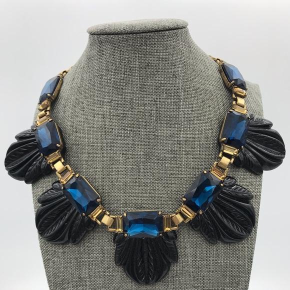 J Crew statement resin collar necklace